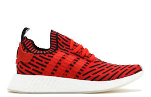 bc045c6861135 NEW ADIDAS NMD R2 Primeknit CORE RED CORE BLACK WHITE FOOTWEAR ...