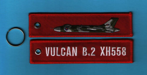 New Vulcan XH558 embroidered Aviation Keyrings//Fob//Luggage Tag