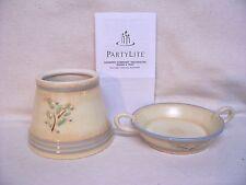 Partylite Country Comfort Decorative Shade & Tray #P8407 Original Box