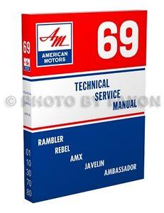 1968 AMC AMX Javelin Rebel American Ambassador Service Shop Repair Manual CD