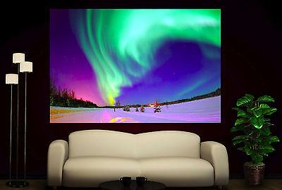 Aurora Borealis Canvas Prints Northern Lights Colorful Photo Print Decor 2 3 5 1