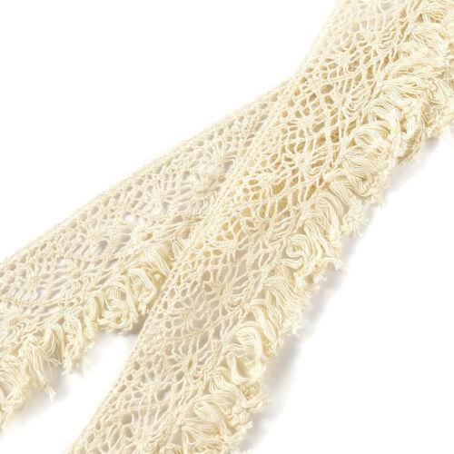 10M//L 5CM//W Vintage Cotton Crochet Lace Trim Wedding Bridal Ribbon Sewing Craft