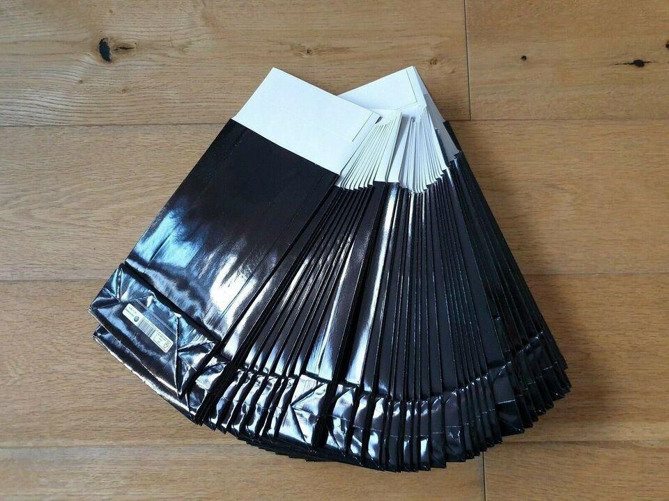 Helt nye gaveposer i sort glanspapir, M, 40 styk