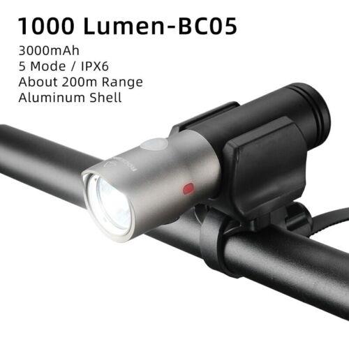 ROCKBROS Rechargeable USB Rainproof Bicycle Light LED 2000mah MTB Headlight