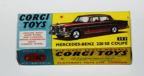 Reprobox corgi toys nº 253-Mercedes-Benz 220se Coupe