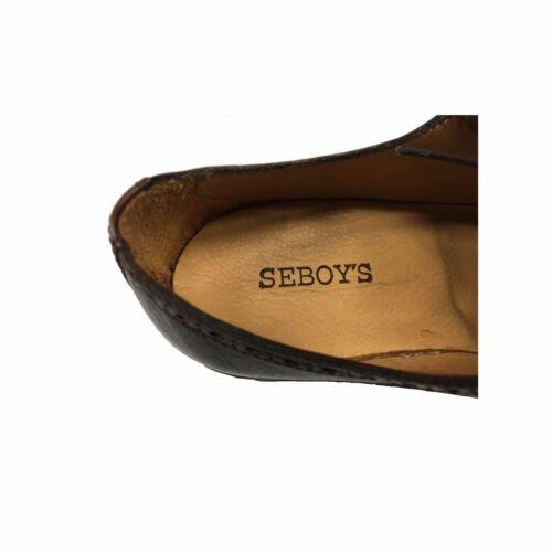 et à hommes Chaussures brun Italie foncé 100 Seboy's daim en cuir pour acajou fabriqués lacets en zAwFFfyq5