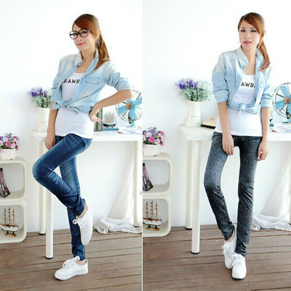 Sexy Skinny Womens Denim Jeans Leggings Jeggings Tights Stretch Pants Trousers