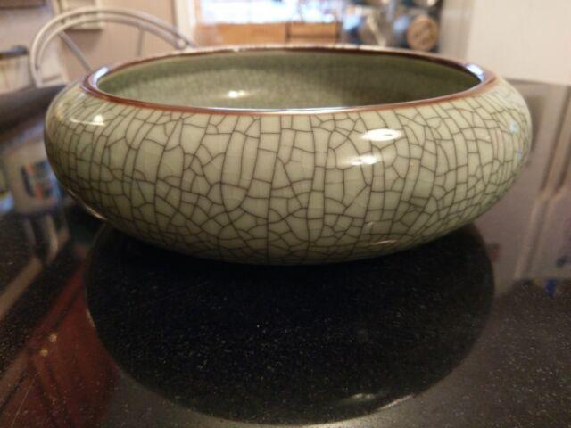Gorgeous Antique Chinese Ceramic Center Piece Bowl