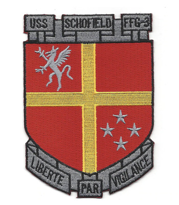 """5/"""" NAVY USS SCHOFIELD FFG-3 EMBROIDERED PATCH"""