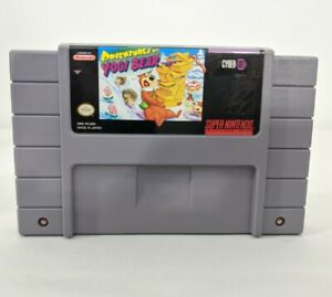 Adventures-Of-Yogi-Bear-Super-Nintendo-SNES-VTG-Tested-Working-Game-Cartridge