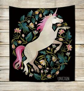 Us Seller Bedroom Accent Wall Bohemain Unicorn Flower