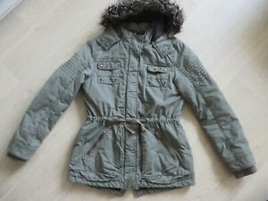 new style 7bd9a 51769 Details zu Here+There C&A Mädchen Jacke Parka Mantel Gr 164 mit Kapuze  Winter Herbst grau