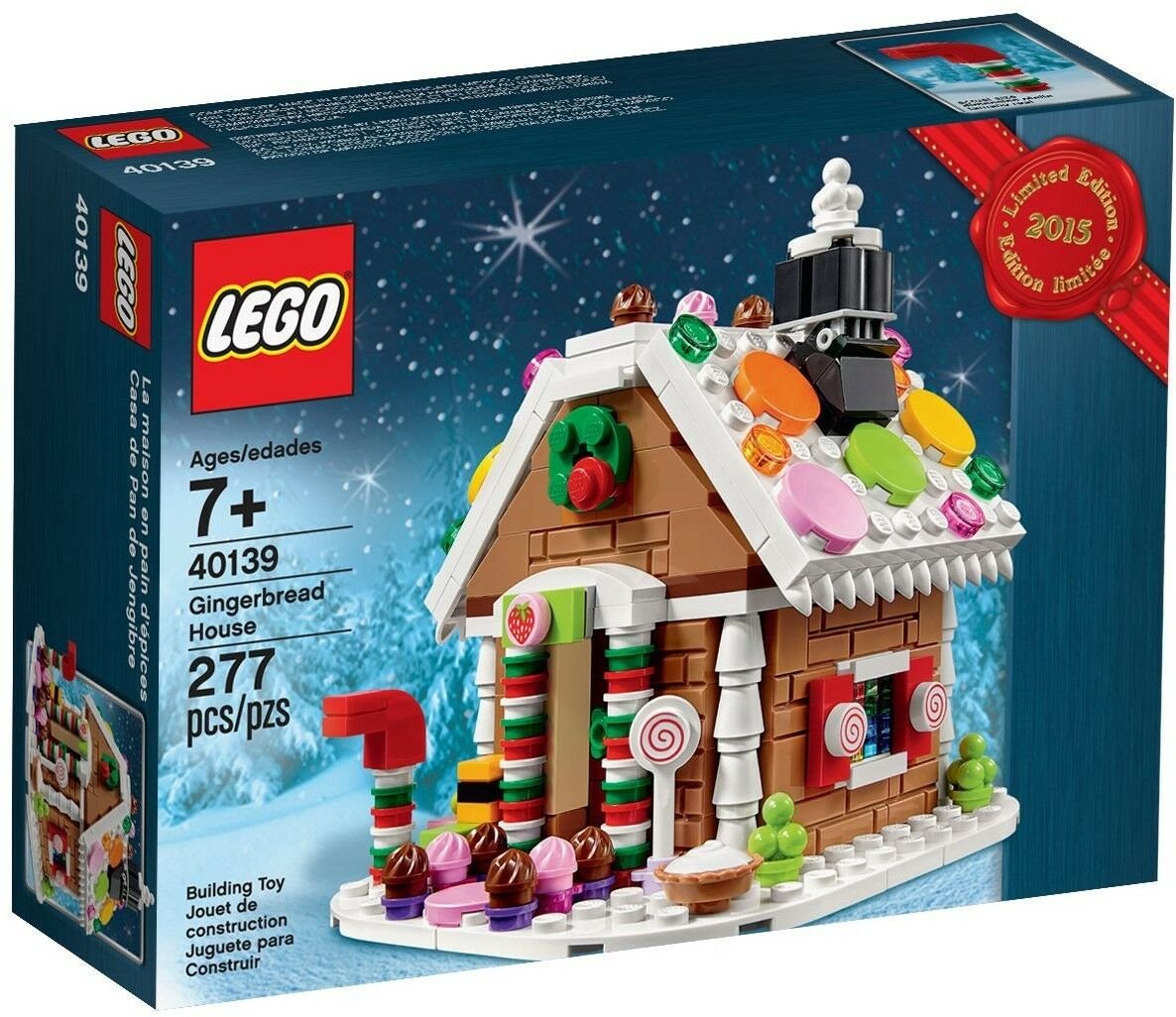 NEW Retired LEGO 40139 Creator Christmas Gingerbread House Building Play Set