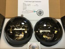 """LED Headlights Pair Land Rover Defender 90 110 RHD + LHD E MARKED 7"""" Inch H4"""