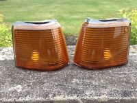 87-88 Olds Cutlass Supreme Calais 442 Gt-350 Euro Amber Marker Lights Lens Set