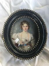 Miniatura di una signora su avorio