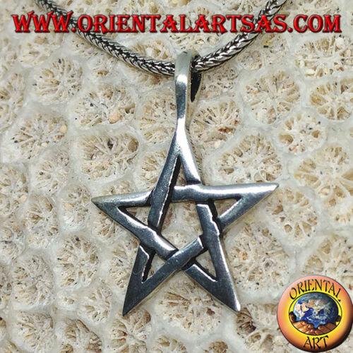 Ciondolo in argento 925 ‰   il pentacolo la stella