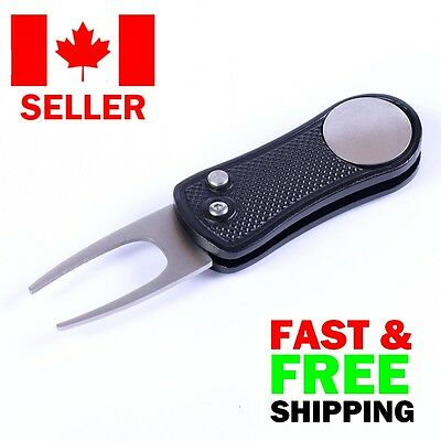 Deluxe Switchblade Pitchfork Divot Tool & Magnetic Ball Marker