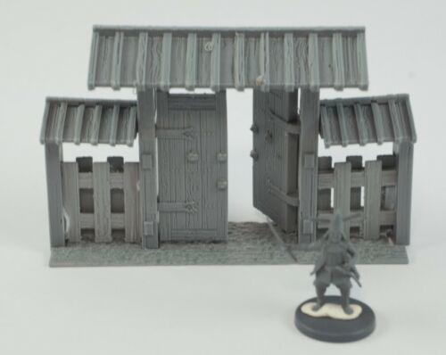 28MM Modular Samurai wooden walls MEGA set  wargaming test of home kensii etc
