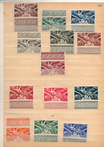 Colonies-13-timbres-PA-8-frs-pour-diverses-colonies-neufs-avec-bord