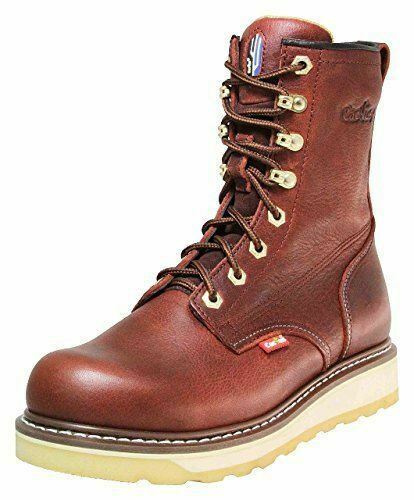 Work Boots 830 Wine 8  Cactus Real Leather Men Size New In Box