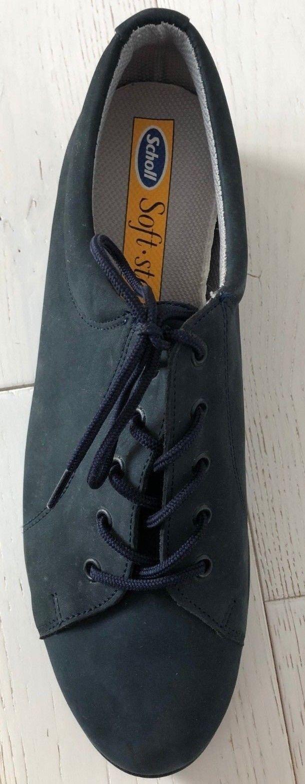 A estrenar en Cordones caja Scholl Softstep Con Cordones en Comodidad Zapato De Ante Azul Marino Talla 7 D 1c0002