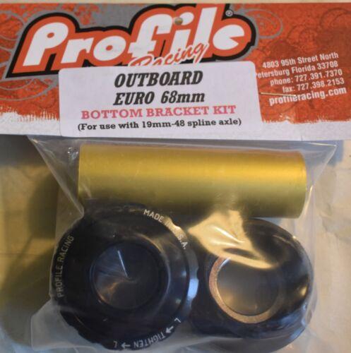 Profile Racing Outboard Euro Bottom Bracket Kit 68 mm for BMX Dirt Jumping Bike