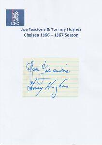 JOE FASCIONE amp TOMMY HUGHES CHELSEA 19661967 ORIGINAL HAND SIGNED CUTTING - Tunbridge Wells, Kent, United Kingdom - JOE FASCIONE amp TOMMY HUGHES CHELSEA 19661967 ORIGINAL HAND SIGNED CUTTING - Tunbridge Wells, Kent, United Kingdom