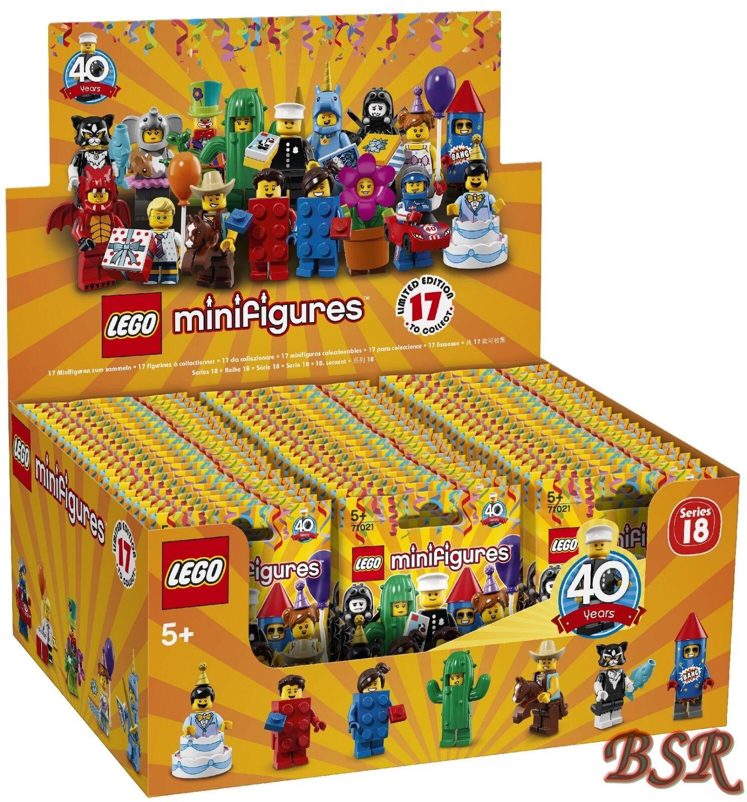 71021 Lego Serie 18 Completos Pantalla Sellado 60 Bolsas Envío & Nuevo