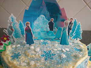 frozen princess castle cake edible decorations party ideas girls on frozen birthday cake edible image