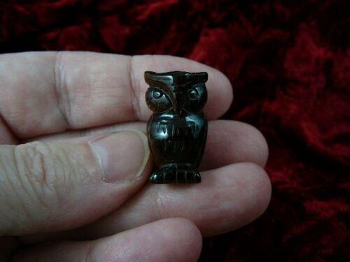 little brown OWL bird gemstone carving love baby OWLS night birds Y-BIR-OW-500
