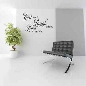 Image Is Loading EAT LAUGH LOVE Kitchen Dining Room Wall Art