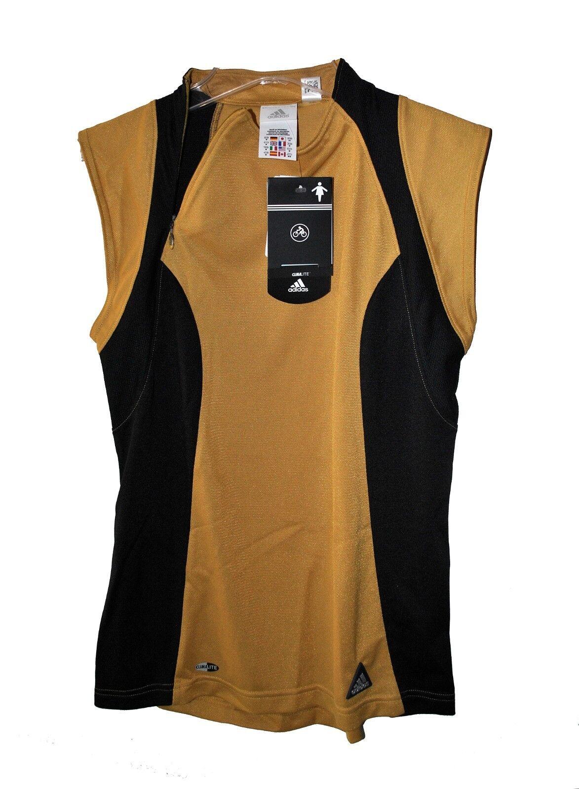 Nuevo jersey de mujer Adidas Trail SL sin mangas oro negro climalite reg: $ 49.95