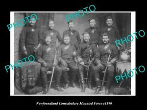 OLD-LARGE-HISTORIC-PHOTO-OF-THE-NEWFOUNDLAND-POLICE-CONSTABULARY-FORCE-c1890