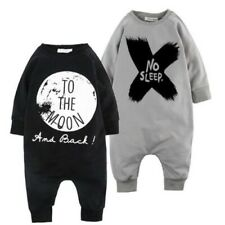 Kids Baby Boy Warm Infant Long Sleeve Romper Jumpsuit Bodysuit Clothes Outfit