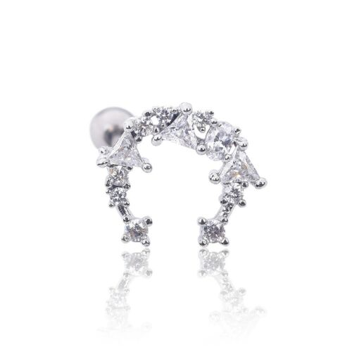 Details about  /Flower Crystal Ear Helix Tragus Cartilage Bar Stud Earring Piercing Jewelry Gift