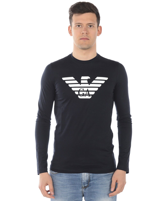 Emporio ARMANI Camiseta Sudadera Hombre azul 8N1T64 1 jnqz 939  Sz M hacer oferta  Esperando por ti