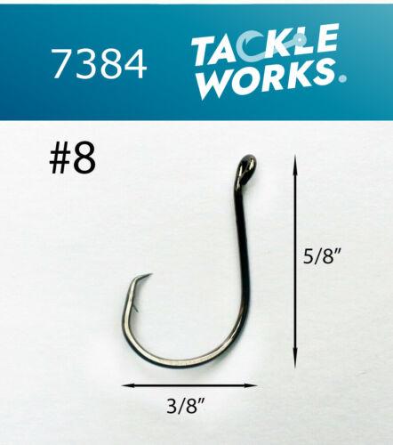 Size #8 CHOOSE PACK 25 50 100 TACKLEWORKS Circle Offset Fishing Hooks 7384