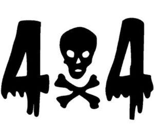 4x4 Crâne Off Road Véhicule Voiture Autocollant Vinyle Autocollant Fenêtre 2 Couleurs Disponibles