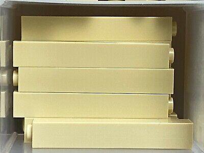 LEGO PARTS-NEW-#2453B-TAN-BRICK 1 X 1 X 5 SOLID STUD-20 PIECES