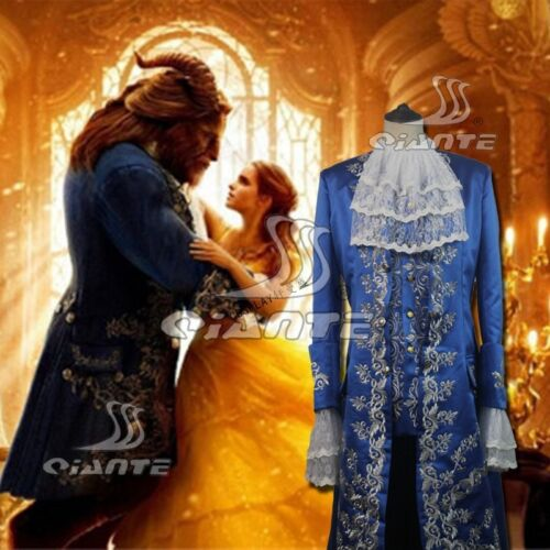 2017 Beauty and the Beast Prince Cosplay Costume Deluxe Blue Outfit Full Set