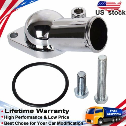 Water Neck 45 degree Chrome For Chevy 350 454 Thermostat Housing Small Big Block