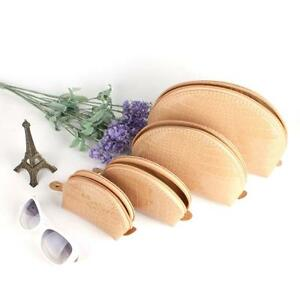 New-Set-of-4-Beige-Cosmetic-Make-up-Beauty-Cases-Purse-Toiletry-Pouch-Bag-Gift