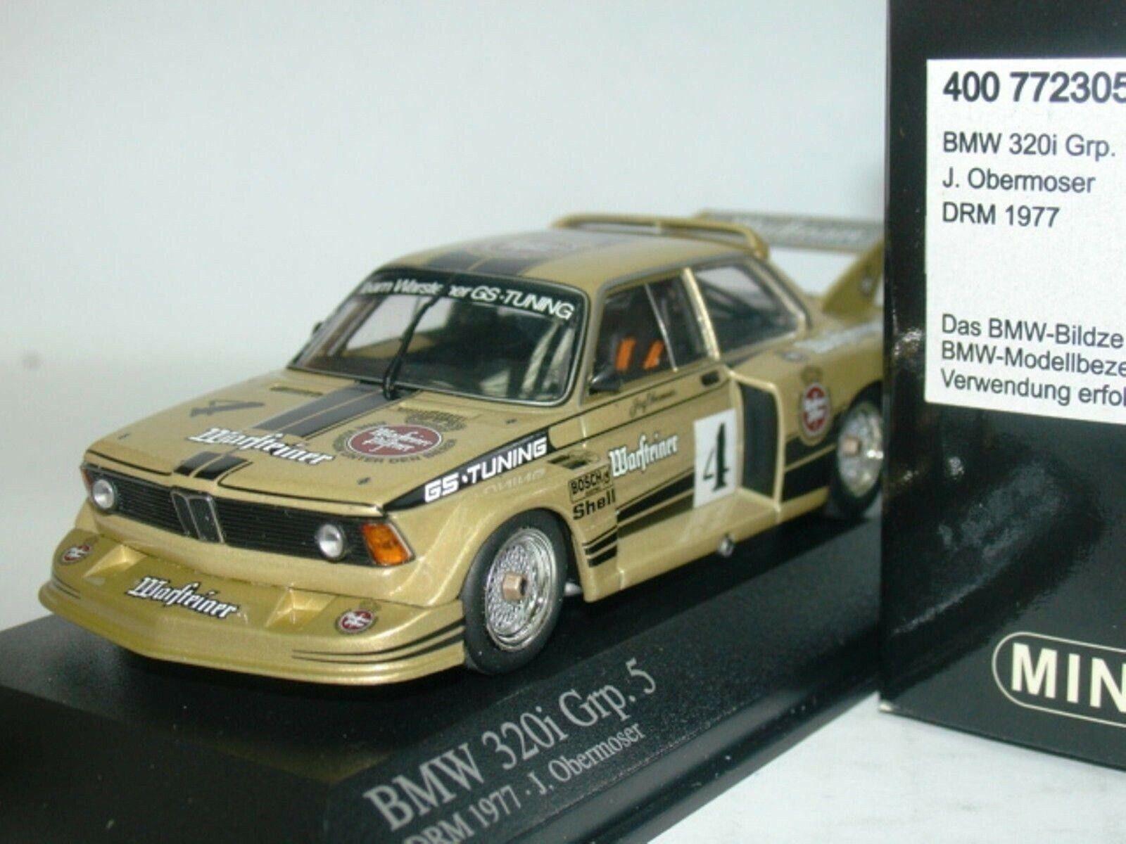 Wow extrêmement rare BMW E21 320i  04 Obermoser Zolder DRM 1977 1 43 Minichamps-M3