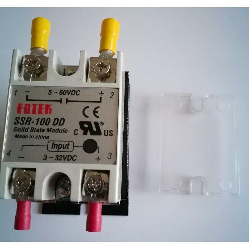 Fotek SSR-100DD Solid State Module 100A DC//DC HEATSINK Cover 000818