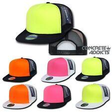 DECKY BLANK NEON FOAM MESH TRUCKER HAT CAP SNAPBACK FLATBILL Hats  Fluorescent 9c1b12f3962b