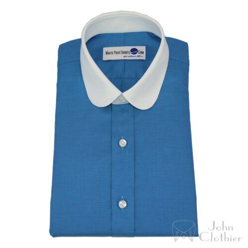 Chemise Blinders Col Club Mer Rond Banquier Dandy Peaky Bleue Hommes twqPzgz
