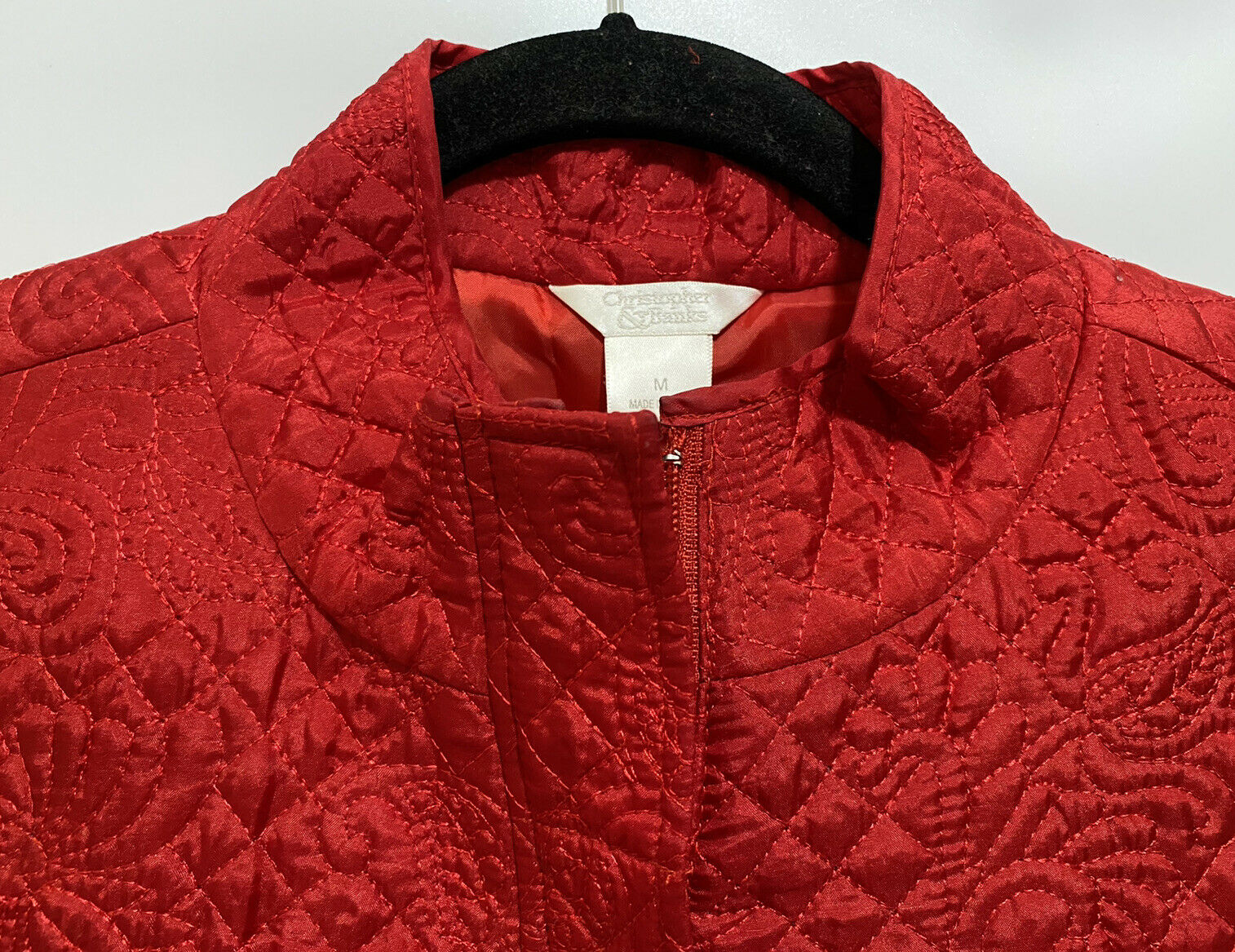 Christopher & Banks Womens Quilted Embroidered Pa… - image 2