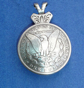 Western jewelry antique eagle silver dollar repro concho pendant image is loading western jewelry antique eagle silver dollar repro concho mozeypictures Choice Image