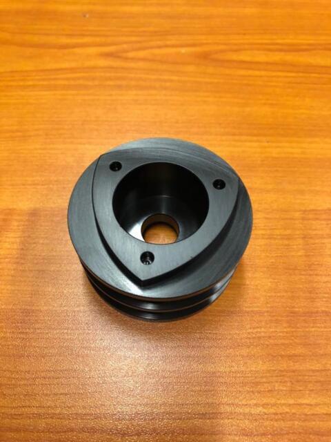Mazda Rotary Aluminium Rotor Alternator Pulley Twin Belt Black